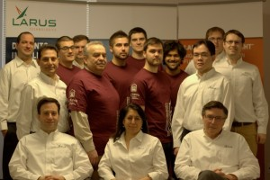 Group portrait of Larus Technologies employees and Dr Petriu